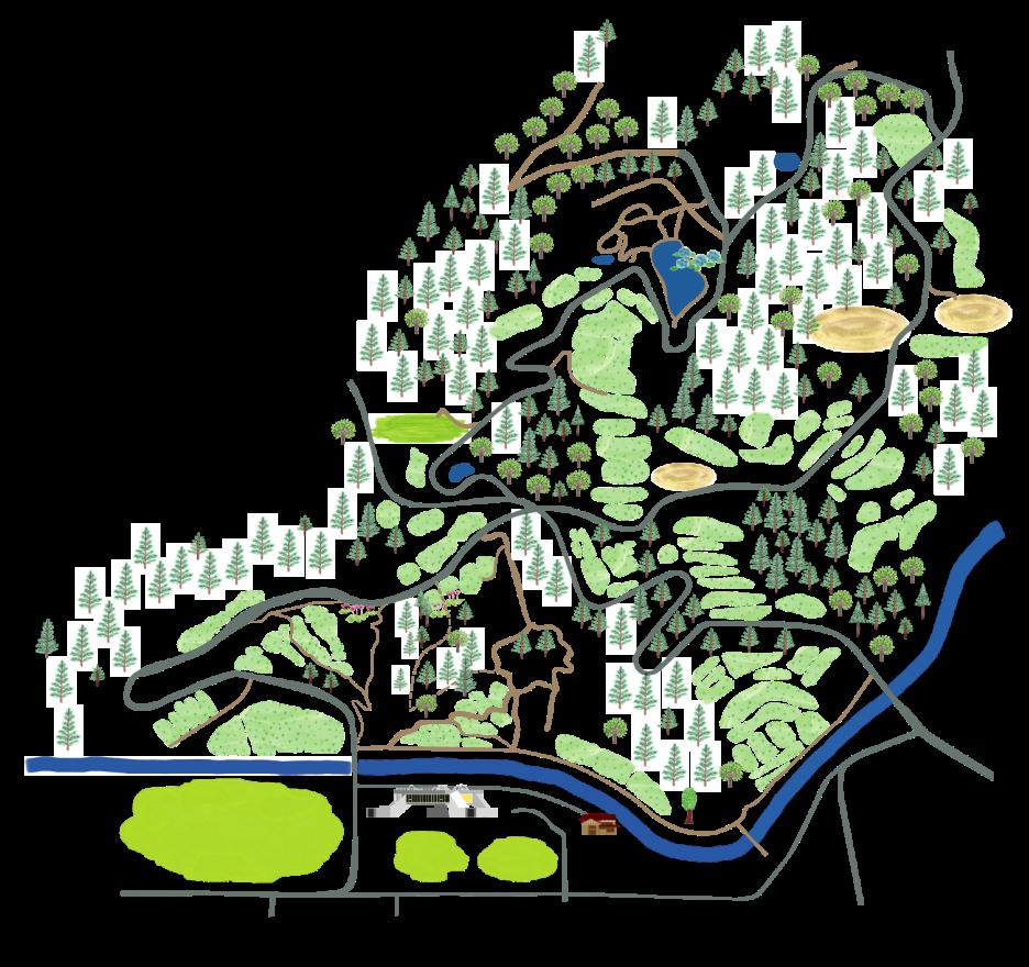 里山の地図のイラスト